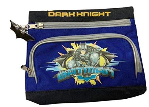 Giochi Preziosi, Astuccio Bustone 2 zip Batman, blu - nero.
