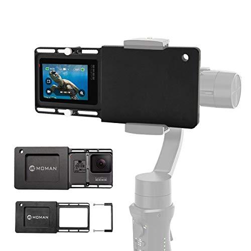 Moman GoPro Gimbal Adapter Mount Platte Halterung Kamerahalterung für GoPro Hero 7/6/5/4/3/3+ DJI Osmo Mobile 2 Zhiyun Smooth 4 Q2 FeiyuTech Hohem Rollei Gimbal Handheld Kamera Stabilisator