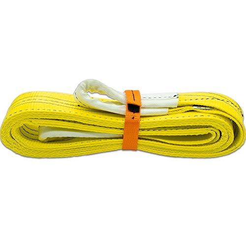Autodomy Eslinga 4x4 Profesional - Cuerda Remolque - Resistencia 21.000 Kg Rotura - Accesorio de Emergencia para Rescate Vehículos - Made in EU (3 Metros)