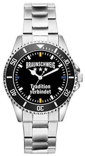 Braunschweig Geschenk Artikel Idee Fan Uhr 2497