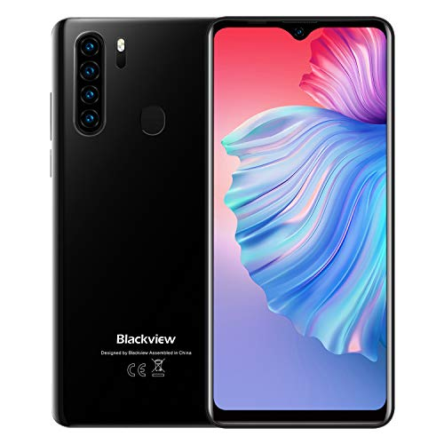 Blackview A80 Plus Cellulari Offerte, Schermo 6.49'' HD+ In-Cell Waterdrop Telefoni, Helio P25 Octa-core 4GB+64GB Mobile, 4680mAh Batteria 4G Smartphone, 13MP Quad Camera, Android 10.0, Dual SIM, NFC