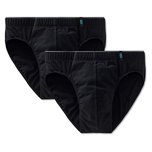 Schiesser Herren Slip 2er Pack - Supermini, Cotton Stretch, Uni, Serie 95/5 (schwarz (000), XL (X-Large, 2-Pack))