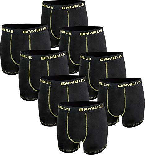 RS. Harmony | Boxershorts für Herren | Seidig weiche Shorts Bambus | 8 Stück | schwarz | L