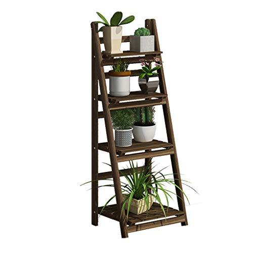 DFZJJ Bloemen, van massief hout, meerdere lagen, van massief hout, voor vensterbank van hout, Loll groen voor moderne en minimalistische woning