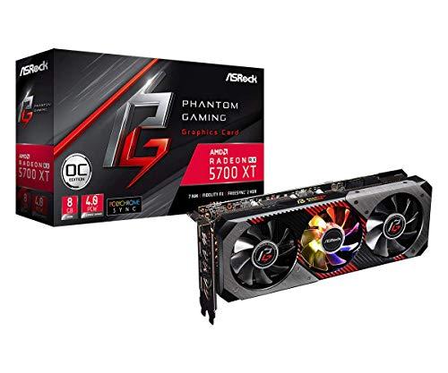 ASRock Radeon RX 5700XT Phantom Gaming 8 GB OC High End Grafikkarte