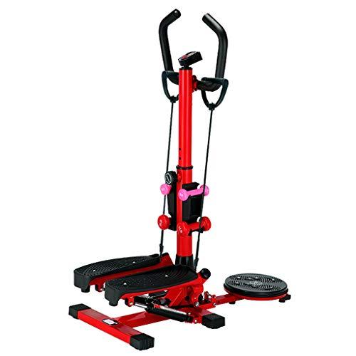 Máquinas de step Stepper Home Stepper Artefacto De Adelgazamiento Femenino Máquina De Moda para Pies Pequeños Máquina De Escalada De Stovepipe Equipo De Ejercicios para Perder Peso (Color : Red)