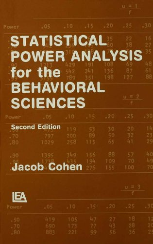 Statistical Power Analysis for the Behavioral Sciences (English Edition)