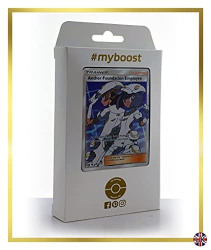 Aether Foundation Employee (anställda vid Autoteile ther Foundation) SV81/SV94 Full Art Trainer – #myboost X Sun & Moon 11.5 Hidden Fates – låda med 10 engelska pokémononkort