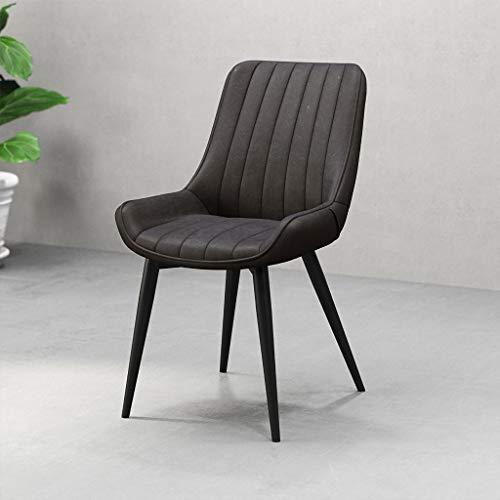JHDY sillón Mesa y Silla de Ocio Cuero Retro de Hierro Silla de Comedor Silla de Estudio de Estudio Silla de Restaurante de Hotel