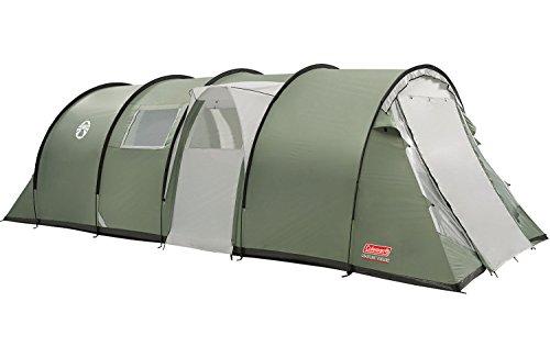 Coleman Coastline 4/6/8 Deluxe Tent, 4/6/8 man tent, 4/6/8 personen tunneltent, campingtent, familietent, waterdicht WS 3.000 mm