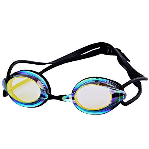 Sportbrillen Schwimmbrille Männer und Frauen Anti-Fog Professionelle wasserdichte Silikon Arena Pool Schwimmen Brillen Erwachsene Schwimmbrille JFYCUICAN (Color : Schwarz, Size : Kostenlos)