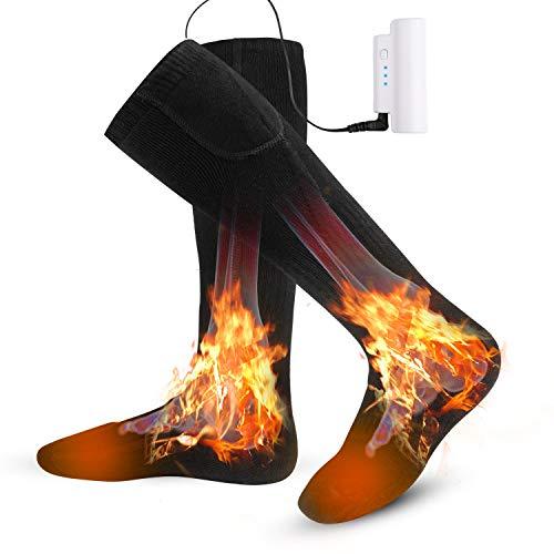 Kekilo 電熱 ソックス 加熱 靴下 電気 ホット 防寒 保温 発熱 暖かい USB 充電式 足元 ヒーター バッテリー...