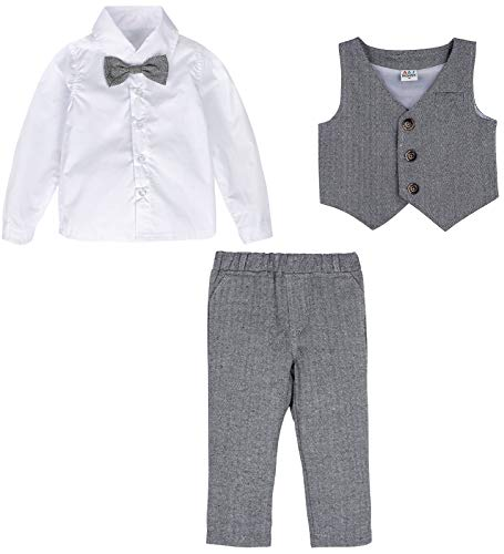 mintgreen Baby Boys Outfit Formal Suit Set (Darkgray, 80/12-18 Months)