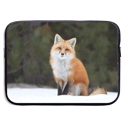 Waterproof Laptop Sleeve 15 Inch, Fox Animals Print Business Briefcase Protective Bag, Computer Case Cover BAG-5567