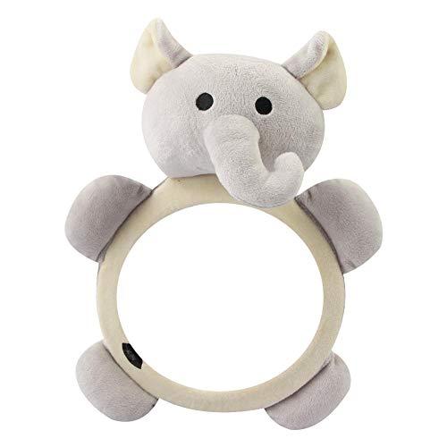 Foliner - Espejo de Seguridad para Asiento Trasero de Coche con diseño de Animales, Transparente, visión Trasera de tu bebé recién Nacido en el Asiento Trasero