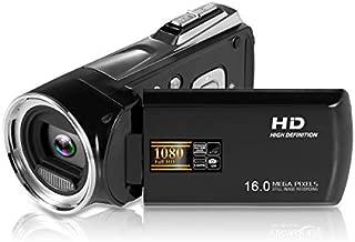 LUCKYCAM Camera Camcorder Digital Video Camera HD 1080P 16MP 2.7 TFT LCD Screen 8X Digital Zoom 270 Degrees Rotation Video Camera Camcorder for Sport/YouTube/Short Films Video Recording