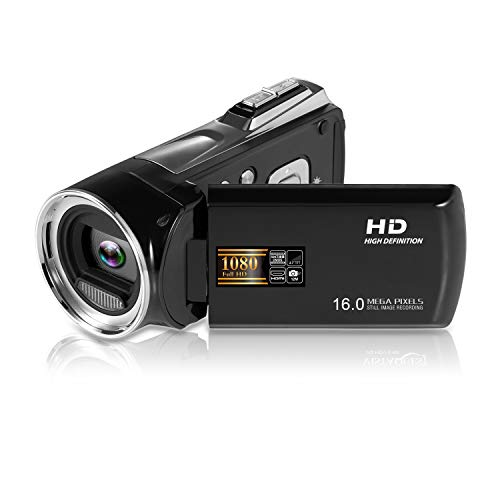 Camcorder Digital Camera FHD 1080p Vlogging Camera Recorder 27 Inch 270 Degree Rotation LCD Camcorder Video Camera with 8 × Digital CameraNot Included SD Card