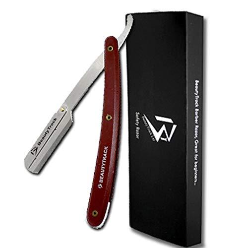 BeautyTrack® - lame barbiere taglio dritto gola rasoio Shave Rasoi scheermes + Lame + sacchetto di sicurezza