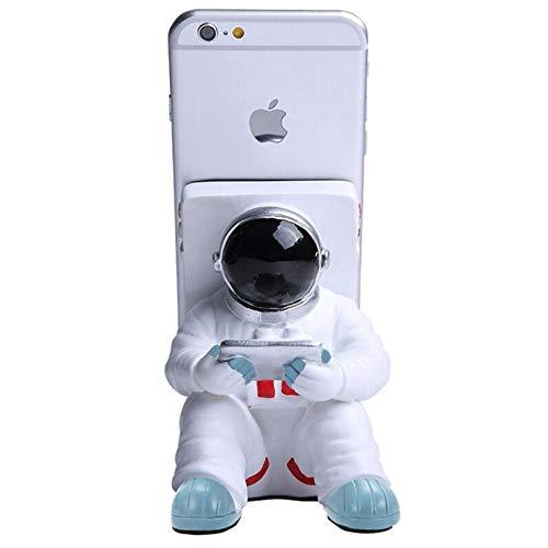 RENYIH Astronauta Soporte de teléfono para escritorio, soporte creativo para teléfono móvil, tabletas, soporte de teléfono ajustable para iPhone, iPad, teléfono Samsung
