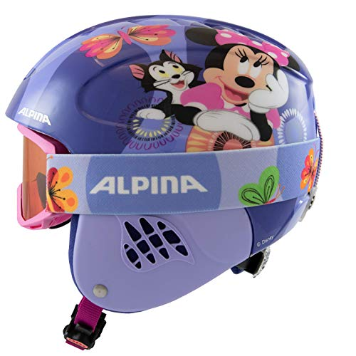 ALPINA Unisex - Kinder, CARAT SET DISNEY Skihelm, Minnie Mouse, 48-52 cm