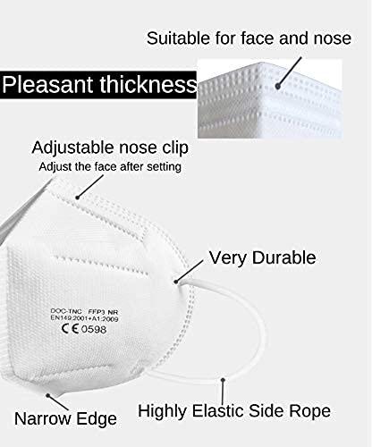 20x-Mascarillas FFP3 Máscara-empaquetado individualmente Máscaras de protección respiratoria,certificado EN 149:2001+A1:2009,filtro de clase de filtro más alto 99%-sin válvula