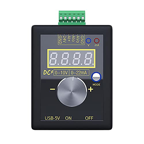 MOTINGDI 0-10V 0-20mA alta precisión voltaje digital y señal de corriente generador instrumento de medición