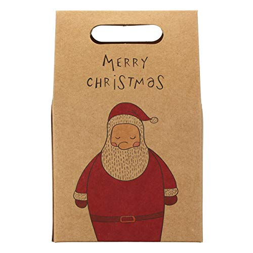 TuToy Merry Christmas Paper Bags Biscuits Portable Tote Bag For Cafe Bakery Box Gift - #2