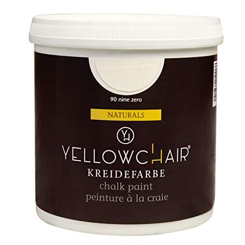 Kreidefarbe yellowchair 1 Liter ÖKO für Wände und Möbel Shabby Chic Vintage Look (No. 90 Natural White)
