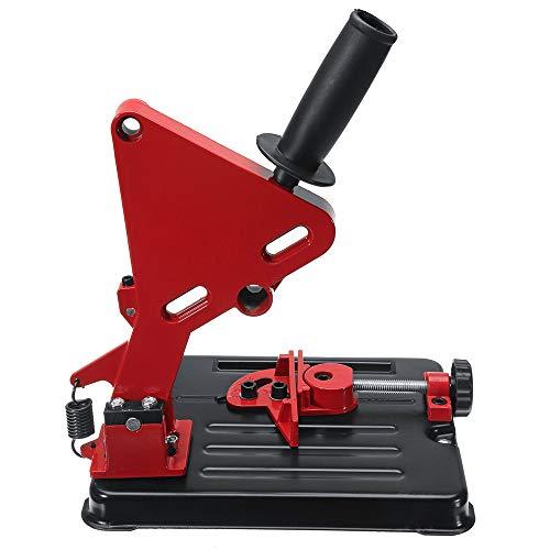 InLoveArts Smerigliatrice angolare Stander Grinder Supporto per staffa Supporto per utensili elettrici in ghisa Base per staffa in ghisa per smerigliatrice angolare 100-125mm (4in-5in) (Rosso)