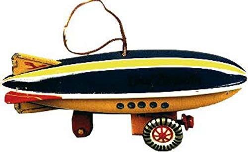 CAPRILO Juguete Infantil Decorativo de Hojalata Mini Zeppelin. Vehículos a Escala. Juguetes y Juegos de Colección. Regalos Originales. Decoración Clásica