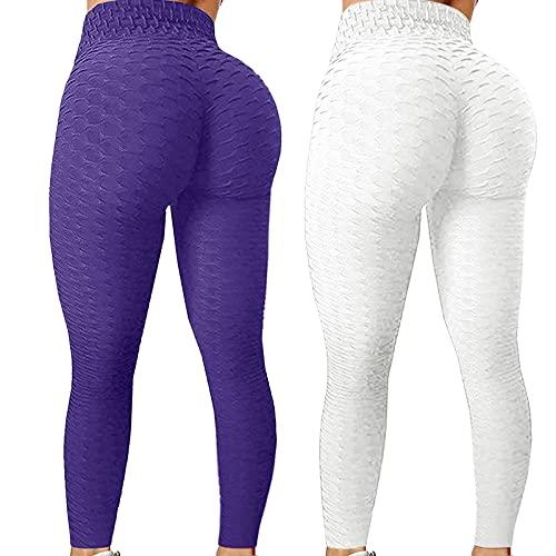 CXDS Yoga broek met zakken, buikcontrole, workout running legging met zakken voor vrouwen