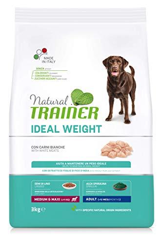 Natural Trainer Ideal Weight - Cibo per Cani Medium-Maxi Adulti con Carni Bianche - 3kg