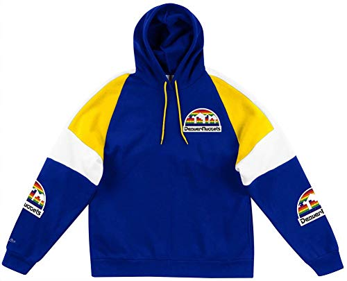 Mitchell & Ness Denver Nuggets NBA Instant Replay Hoody Hoodie Sweater Herren Mens