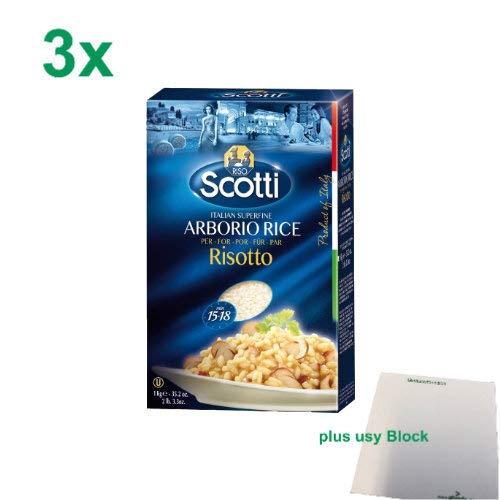 Riso Scotti Reis 'Arborio', 3x 1000 g + usy Block