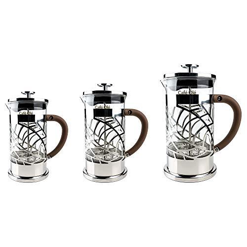 Grunwerg 12 TAZZE DRITTO SATINATO DOPPIA PARETE COFFEE MAKER STAINLES ACCIAIO INFUSIERA