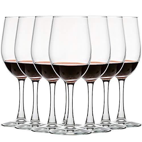 CREST [8 Pack,340 ml] Copa de Vino Blanco, Vaso de cristal, Adecuado para restaurantes, fiestas y bodas.