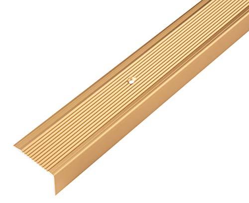 GAH-Alberts 484019 Treppenkanten-Schutzprofil | Aluminium, goldfarbig eloxiert | 1000 x 45 x 23 mm