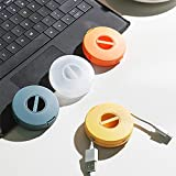 SITAKE 4 cables organizados, enredo elástico vacío, funda compacta multiusos para auriculares para cable USB de datos cables de carga y accesorios pequeños (4 piezas redondas)