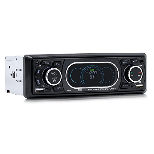 Docooler SWM 8809 Bluetooth Fahrzeug Auto MP3 Player Stereo Audio Player mit UKW-Radio AUX TF Karte U Disk Play Eingebautes Mikrofon Fernbedienung