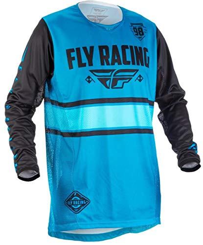 Fly Racing Kinetic Motocross shirt Kids Era, blauw-zwart, MX Jersey mountainbike shirt Downhill