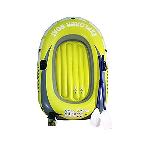 LJHHH Inflatable Kayak,1-2 Persons Inflatable Boat,PVC Plastic Portable Folding Fishing Boating Water Sports 190 115Cm