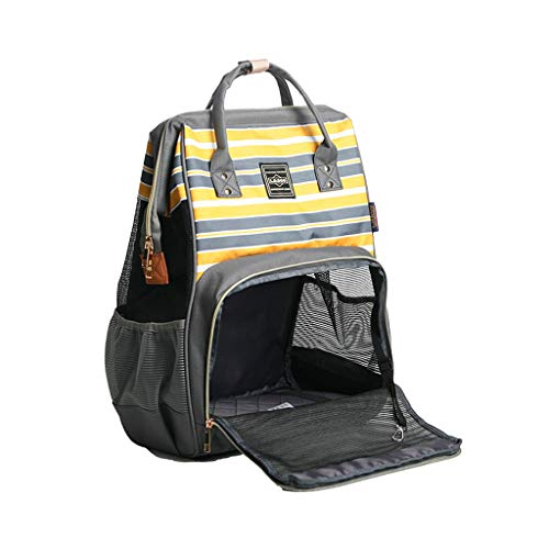 Amuzocity Outdoor Cat Shoulder Bag Backpack Pet Travel Carrier for - Yellow, 30x20x42cm