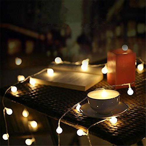 Garland Christmas LED Ball String Light USB / Batería LED Luz de hadas para árbol de Navidad Decoración de banquete de boda Batería 10m100 leds