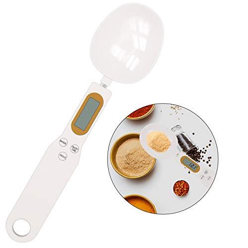 SNUNGPHIR Bilancia Digitale da Cucina LCD, Bilancia Cucchiaio Elettronico per Pesare Ingredienti da 0.1 a 500g, Elettronico Misurino per Alimenti Preciso per Zucchero caffè Spezie Farina