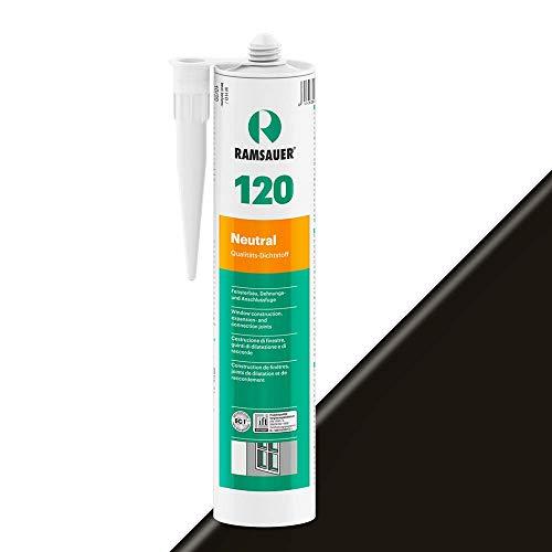 Ramsauer 120 Neutral 1K Silikon Dichtstoff 310ml Kartusche (Schwarz)