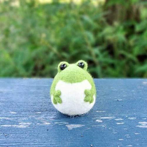 Miwaimao Filz-Set mit Frosch-Motiv, Wolle, Nadel, Filz, Puppe, Filz, zum Basteln, Handkarft, Dekoration, Paket