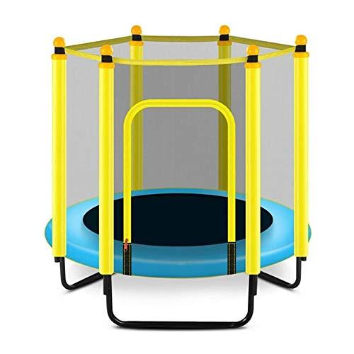 SND-A Trampolines para Interior, Cama para Bebés, Camas Elásticas De 48 Pulgadas para Exteriores E Interiores Plegables con Red De Cerramiento Y Cubierta De Alfombra De Seguridad para Saltar,Azul
