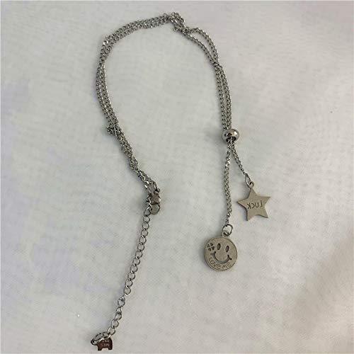 RQQ Collar de Titanio Collar Collar Collar Collar Collar Collar Femenino