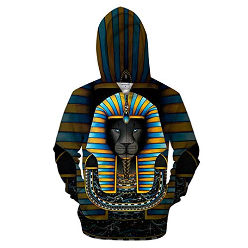 ZP-YENSRT Art Lion Hoodies Sweats Hommes Survêtement Zipper Hoody Streetwear Manteau 3D Zip Manteau Anime Pull ZIP968 XL