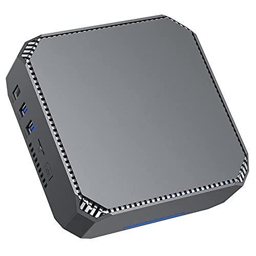 NiPoGi Mini PC Windows 10 Pro, Celeron J3455 Portable Business Office Desktop PC,6GB RAM 128GB ROM PC Rechner,Unterstützt 4K Dual HDMI,Gigabit Ethernet,Dual WiFi,BT4.2, Wake On LAN Micro PC